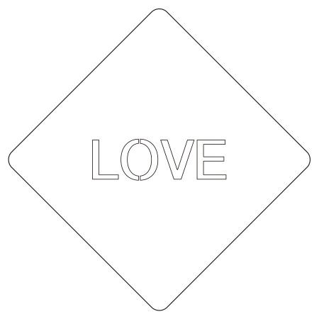 カフェアートステンシル LOVE LAS-0043 4573169220436