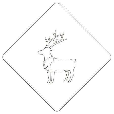 クリスマスステンシル トナカイ カフェアートステンシル LAS-0050