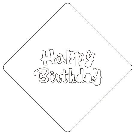 カフェアートステンシル Happy Birthday 3 LAS-0101 4573169221020